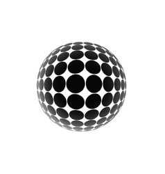 Black ball vector