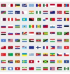 New flags of the world set vector
