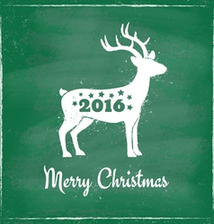 Deer chalk 2016 green vector