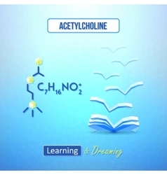 Learn chemistry concept chemical poster with vector