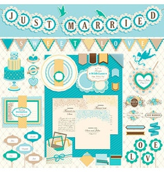 Wedding scrapbooking vector