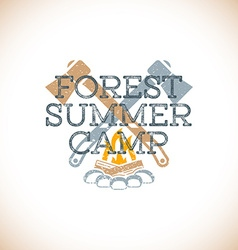 color summer camp sign template vector image