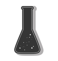 Chemistry flask sample vector