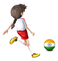 A female player from india vector