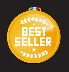 Best Seller Gold Medal vector image vector image