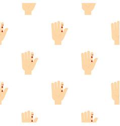 Bleeding human thumb pattern seamless vector