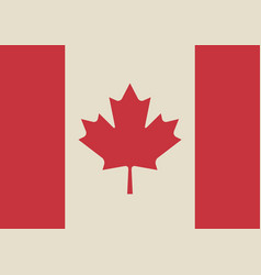 Canadian flag in retro colors vector