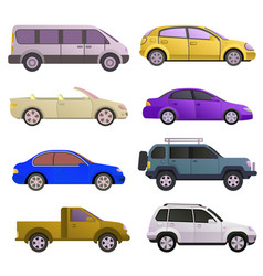 car auto vehicle transport type design travel race vector image vector image