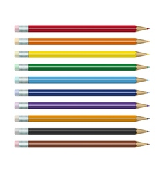 Colored pencils set vector image vector image