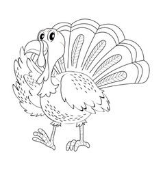 doodle animal for turkey vector image vector image