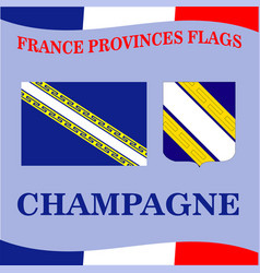 Flag of french province champagne vector