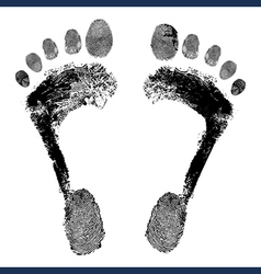Footprint grunge icon detailed image vector