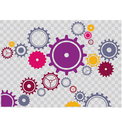 Gears clockwork vector