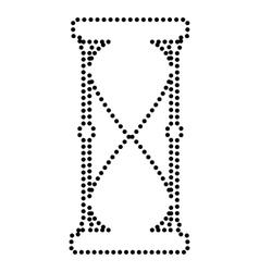 Hourglass sign vector
