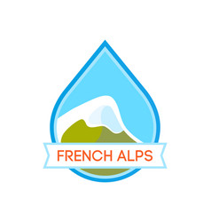 Logo with of alpine mountain vector