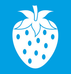 One strawberry berry icon white vector