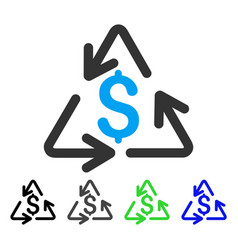 recycling cost flat icon vector image