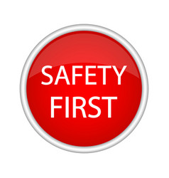 safety first icon vector image