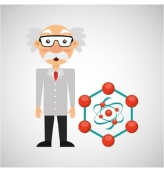 scientist chemistry concept molecule structure vector image
