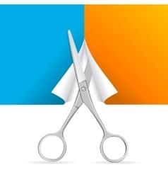 Scissors cut paper vector