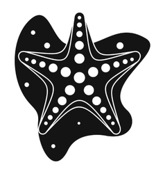 Sea star icon simple style vector