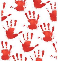 Seamless texture with red prints of childrens vector