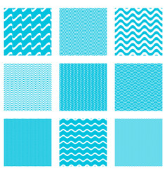 seamless wavy line patterns collection vector image vector image