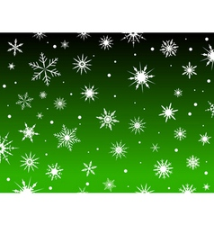 snowflakes green vector image