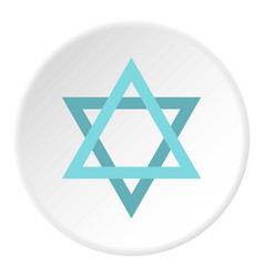 Star of david icon circle vector