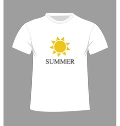 T-shirt design with sun vector image vector image