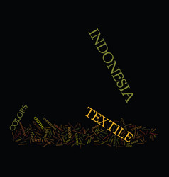 Textile of indonesia text background word cloud vector