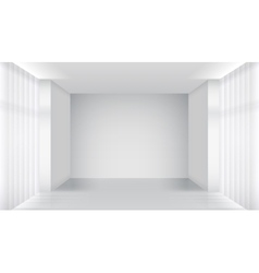 White empty room interior vector