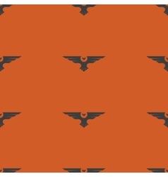Halloween seamless pattern silhouette owls bird vector image