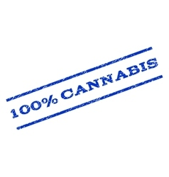 100 percent cannabis watermark stamp vector