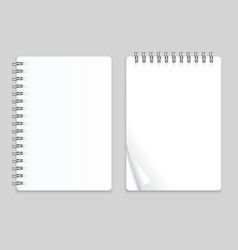 Realistic note template blank set vector