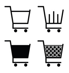 Collection of shopping cart icons vector
