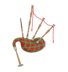 Bagpipes isolated on white background wind vector