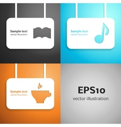 Leisure paper applique background set vector