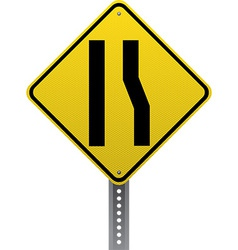 Lane ends sign vector