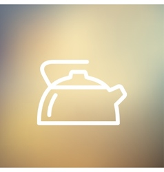 Kettle thin line icon vector