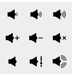 Sound and speaker icons vector