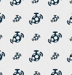 Mirror ball disco icon sign seamless pattern with vector