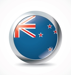 New zealand flag button vector