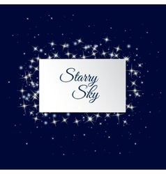 Starry sky background vector