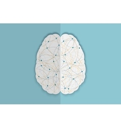human brain vec vector image