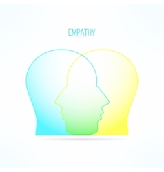 Empathy icon empathic person concept compassion vector