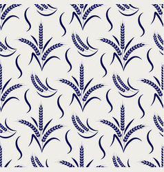 agriculture seamless pattern with wheat branches vector image