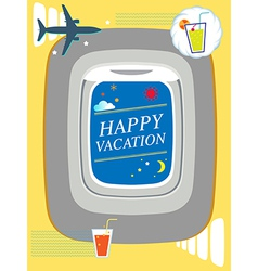 Airplane window Holiday background travel concept vector image vector image