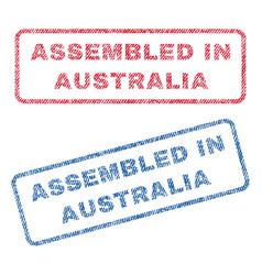 Assembled in australia textile stamps vector