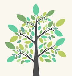 Beautiful green tree vector